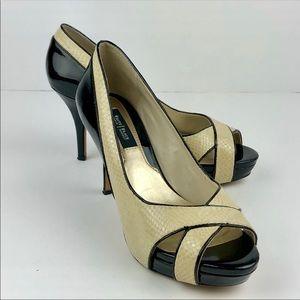 WHBM Leather Heels   7